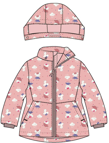 Name it Baby Girl Mouse Print Winter Jacket