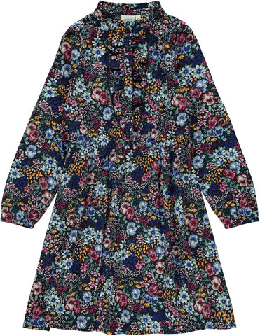 Name it Girls Pretty Floral Long Sleeved Midi Dress