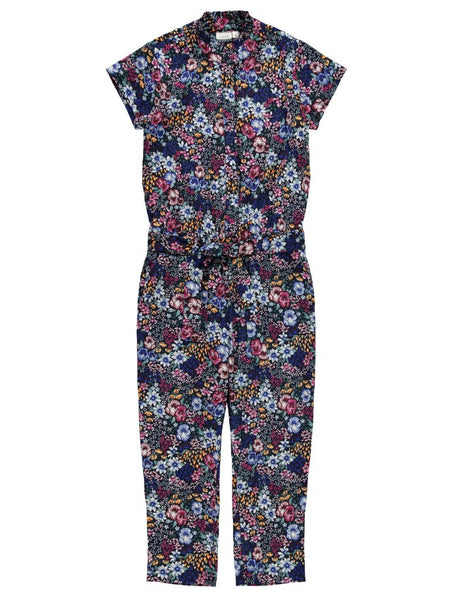 Name it Girls Pretty Floral Short Sleeved Jumpsuit