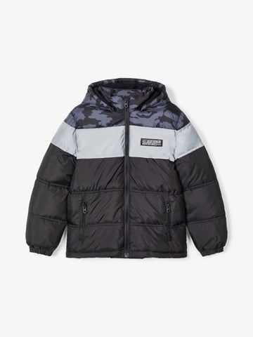 Name it Boys Black and Grey Winter Puffer Jacket