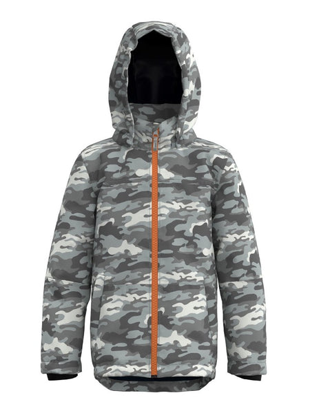 Name it Boys Padded Grey Camouflage Jacket