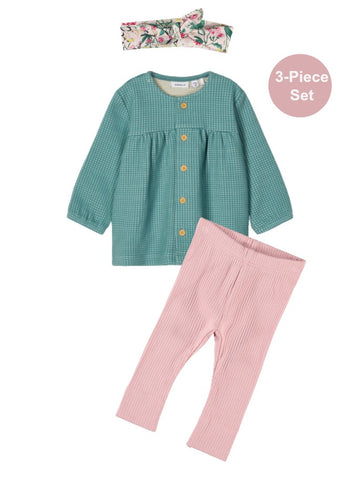Name it Baby Girl 3-Piece Tunic and Legging Set