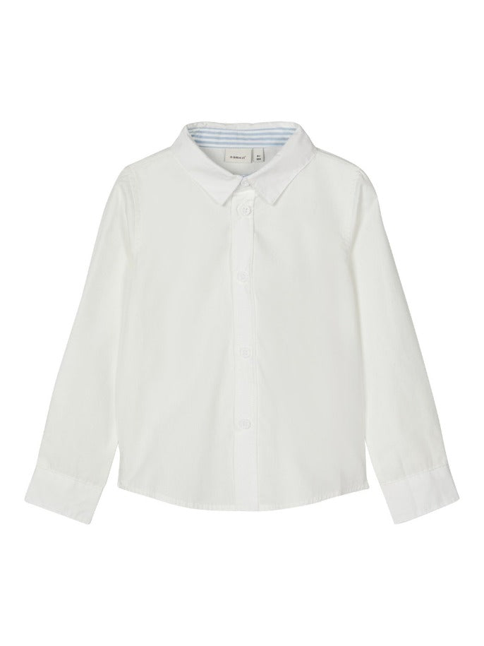 Name it Mini Boy White Long Sleeved Shirt