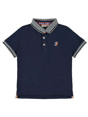 Name it Boys Short Sleeve Navy Polo Shirt