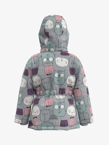 Name it Toddler Girls Winter Padded Kitty Cat Jacket