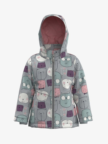 Name it Girls Cat Print Winter Jacket
