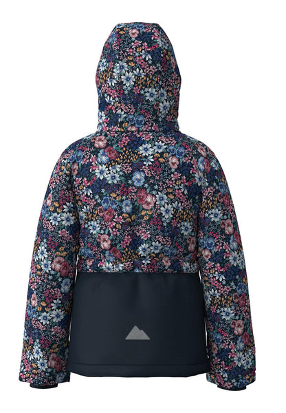 Name it Girls Floral Navy Padded Winter Jacket