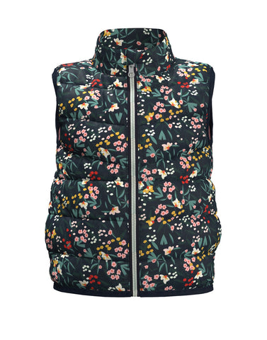 Name it Girls Padded Floral Gilet Jacket
