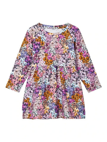 Name it Mini Girl Long Sleeved Floral Sweat Dress