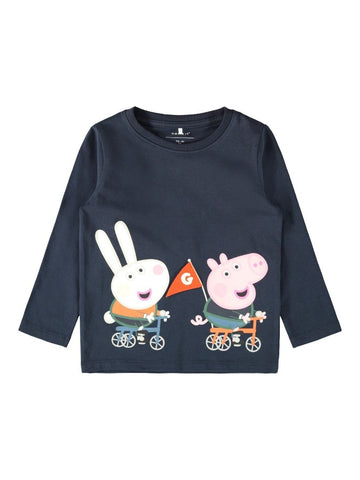 Boys  Peppa Pig Navy Long Sleeved Top