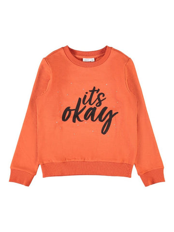 Name it Girls OKAY Diamante Sweatshirt