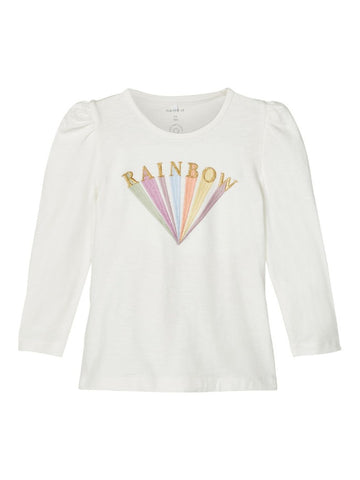 Name it Mini Girls Graphic Print Rainbow Top