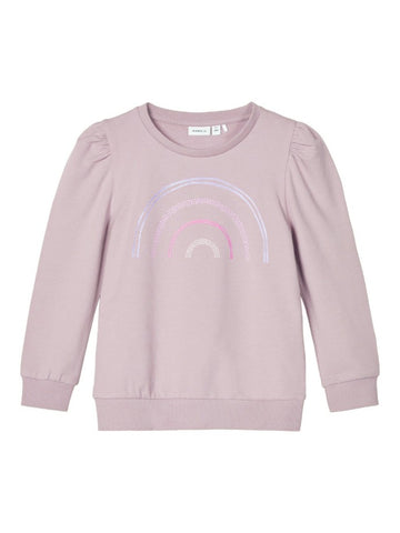 Name it Mini Girls Pink Rainbow Sweatshirt