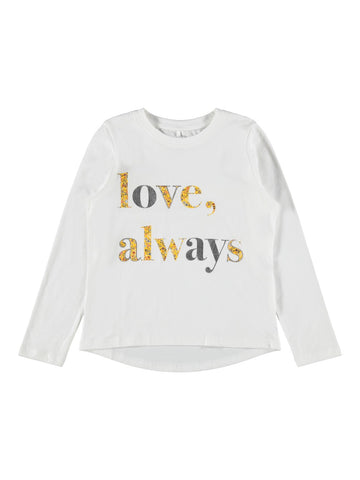 Name it Girls Long Sleeved Graphic T-Shirt