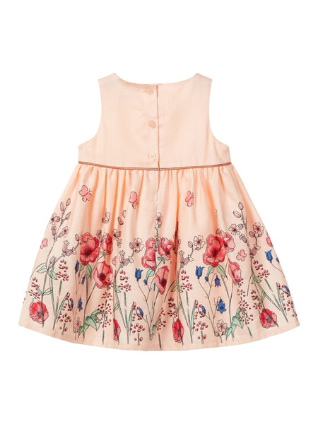 Name it Baby Girl Floral Butterfly Dress  Pink and White