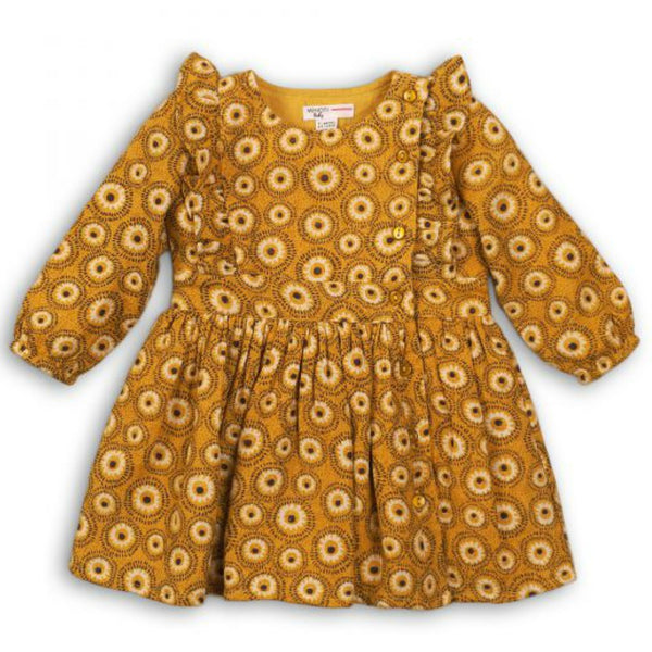 Minoti Baby Girl Long Sleeved Printed Dress