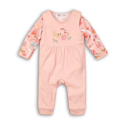 Minoti Baby Girl Dungaree and Bodysuit Set