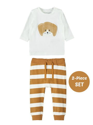 Name it Baby Boy 2-Piece Top and Pant Puppy Set