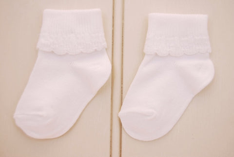 White Baby Socks 2-Pair Pack