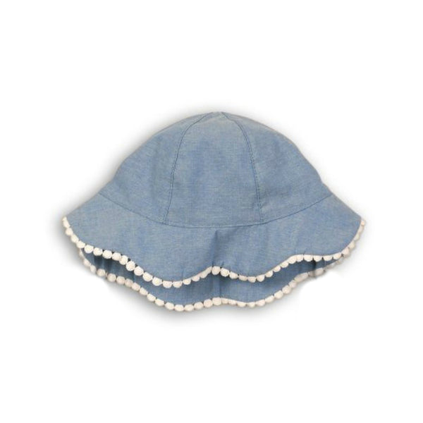 Minoti Baby Girl Chambray Sun Hat