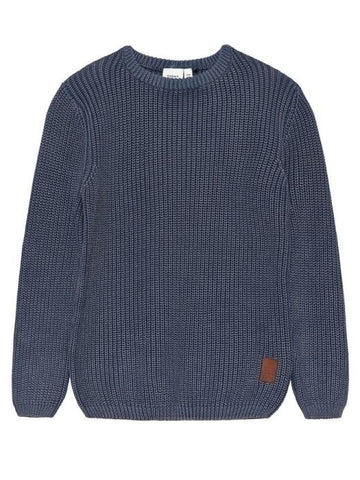 Name it Boys Long Sleeved Indigo Knitted Pullover