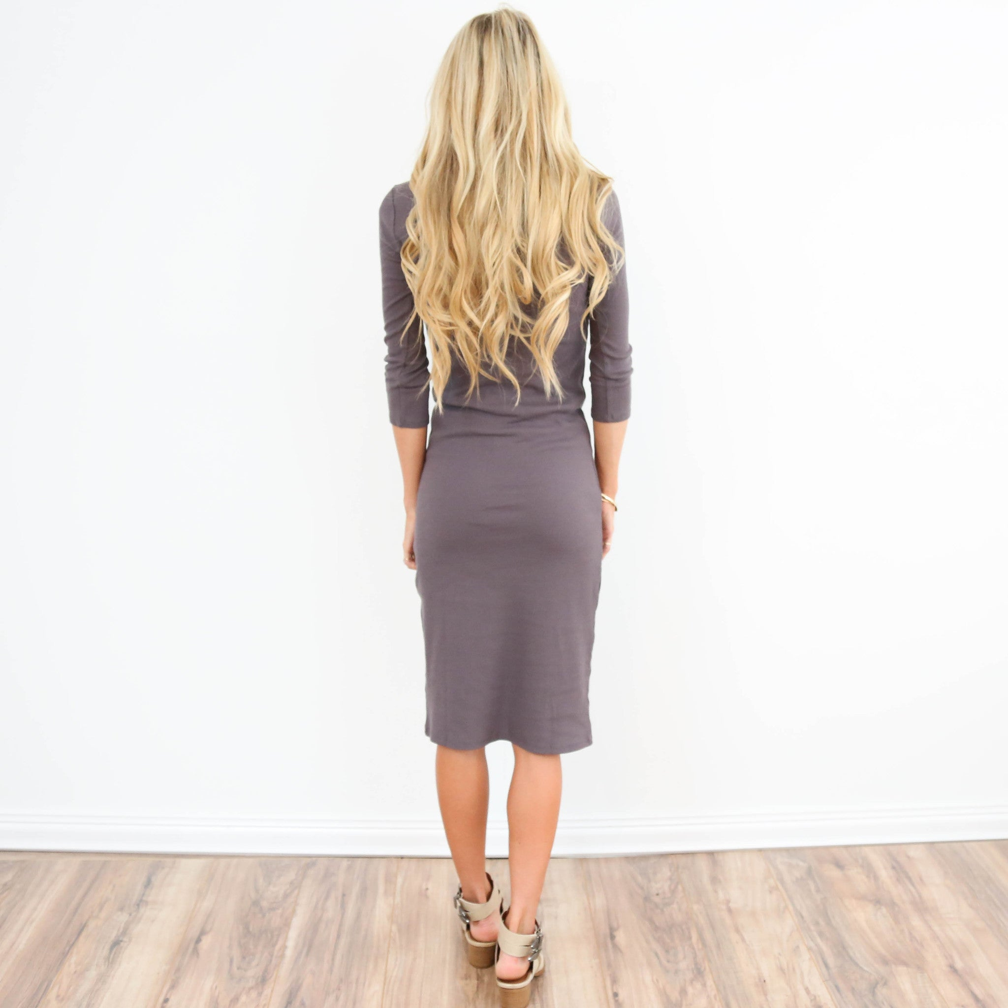 Mika Dress in Dark Mocha