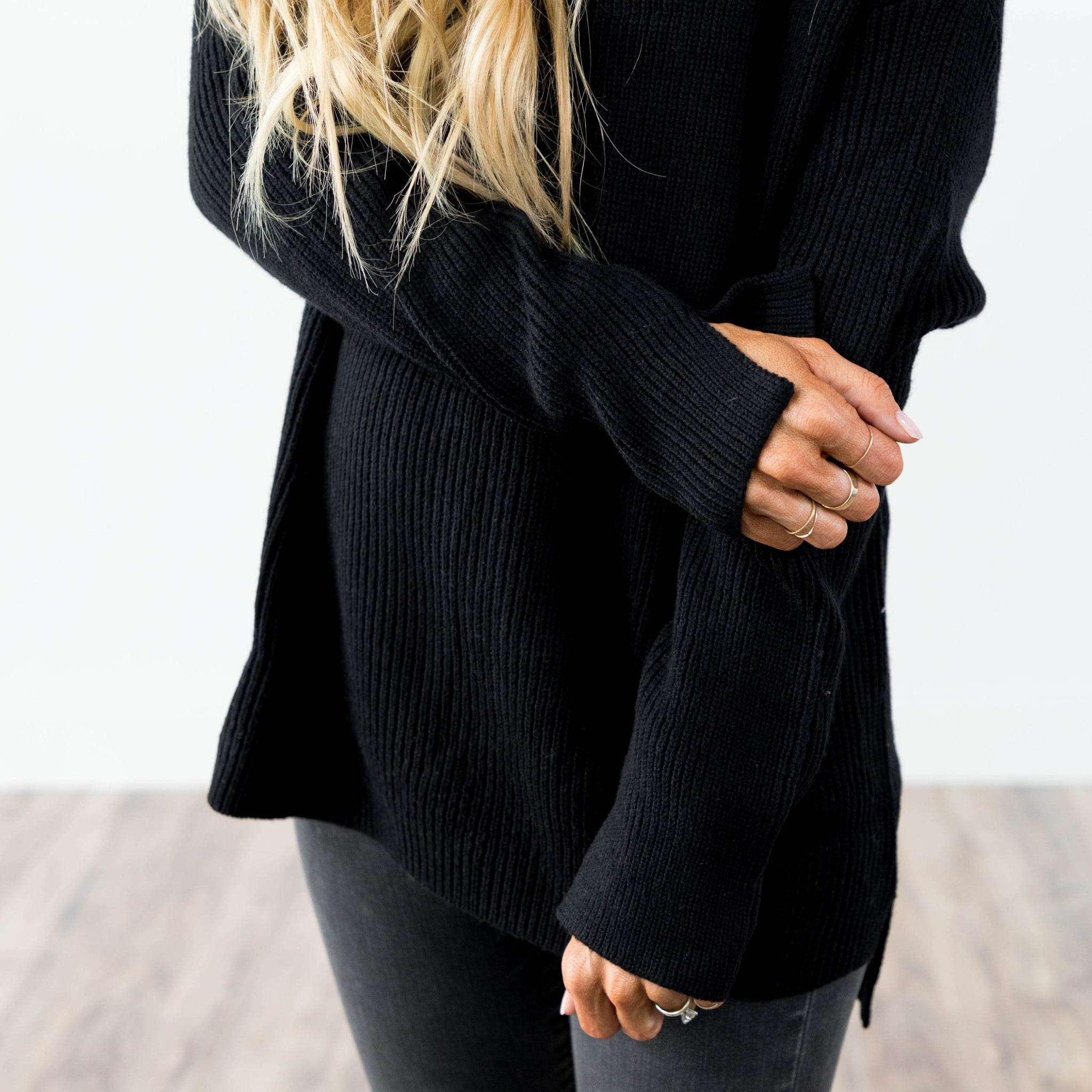 Arielle Knit Top in Black