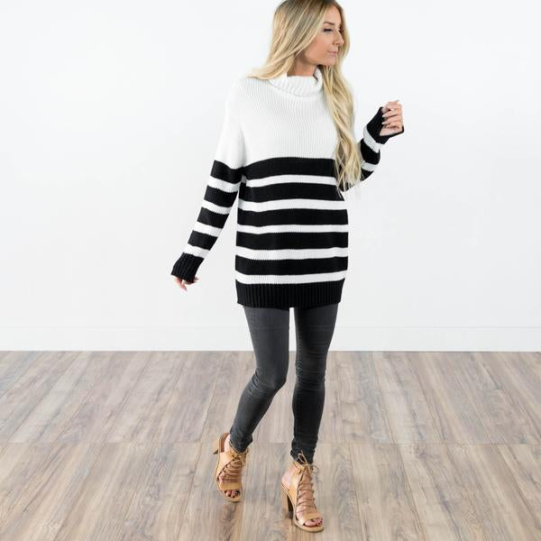 Cascade Stripe Sweater Plus