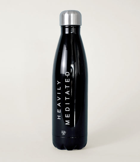heavily meditated water bottle