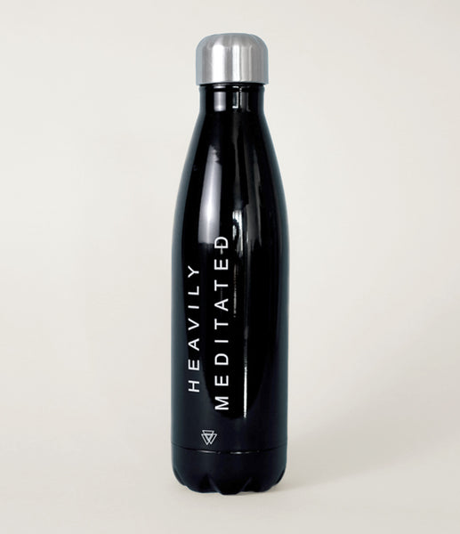"""Heavily Meditated"" Water Bottle"