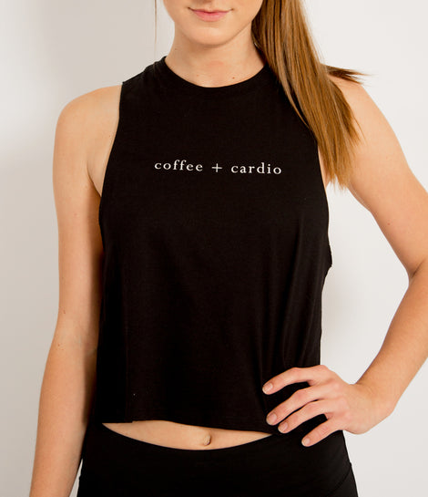 coffee and cardio crop top