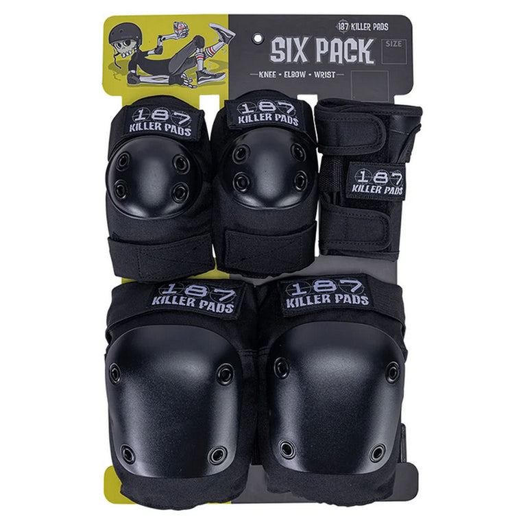 187 Full Pad Set Six Pack Black