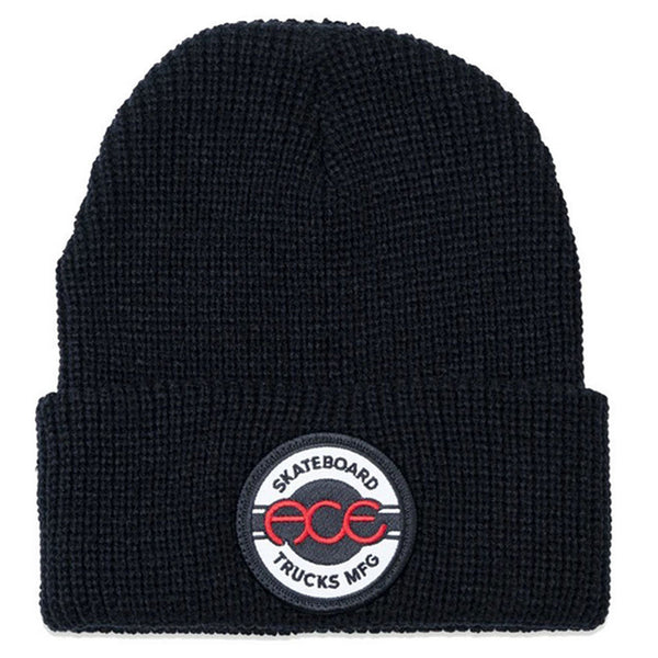 Ace Seal Logo Cuff Beanie Black