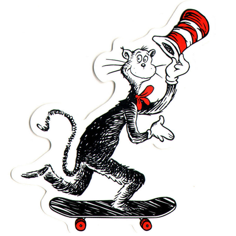 Almost Cat In The Hat Skateboard Sticker
