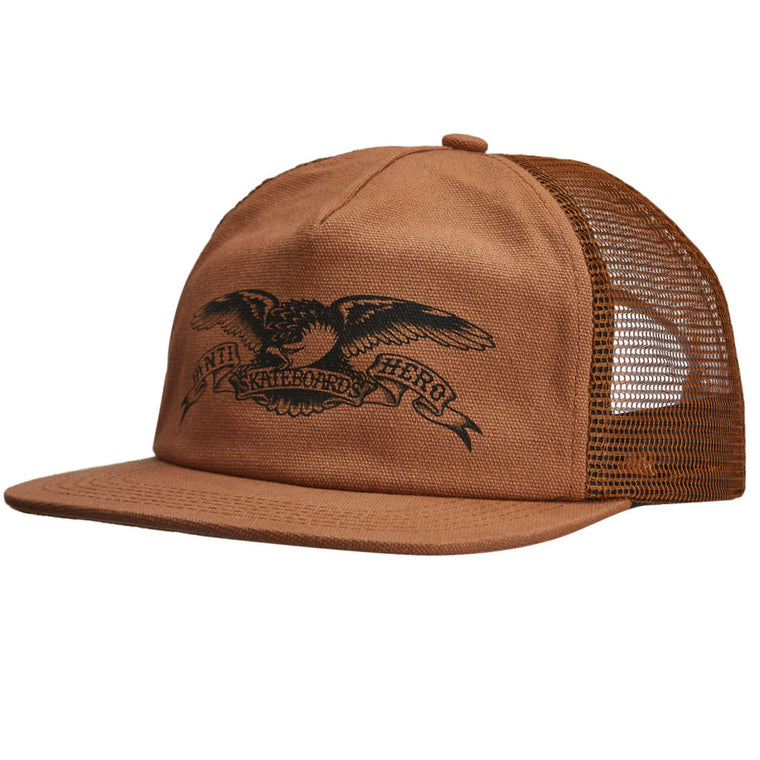 Anti Hero Basic Eagle Trucker Hat Brown