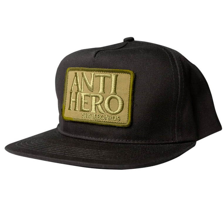 Anti Hero Reserve Patch Snapback Black