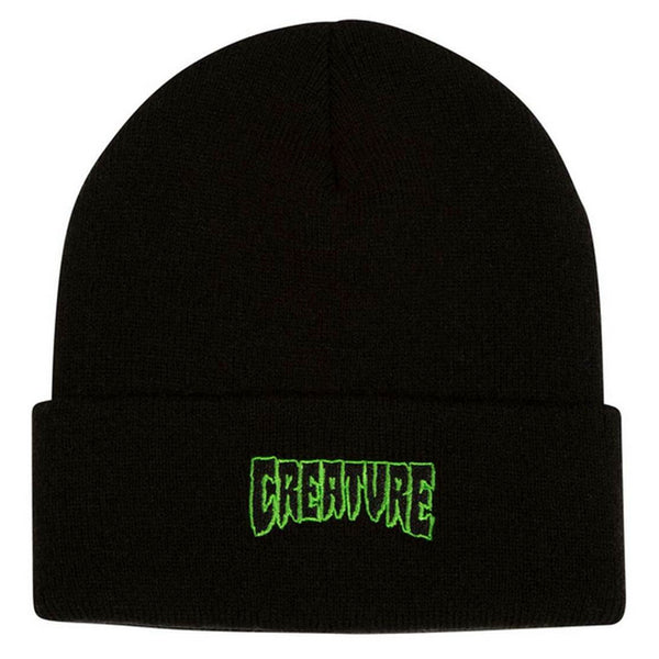 Creature Logo Outline Beanie Black