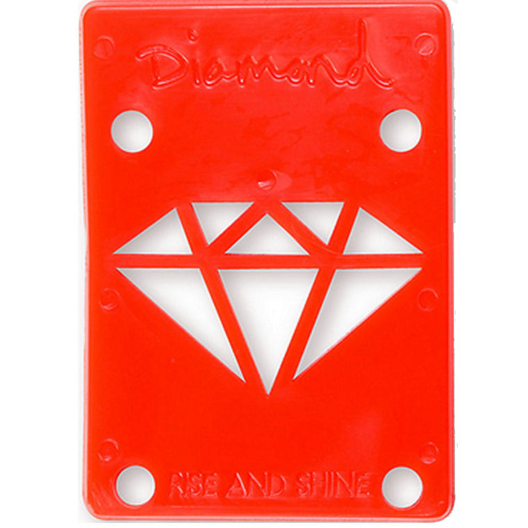 Diamond Riser Pads 1/8 inch red