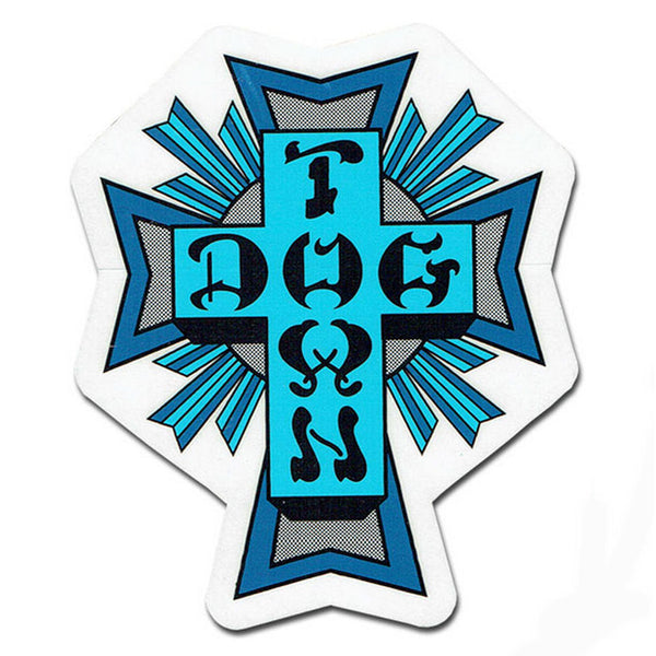Dogtown Blues Cross Sticker