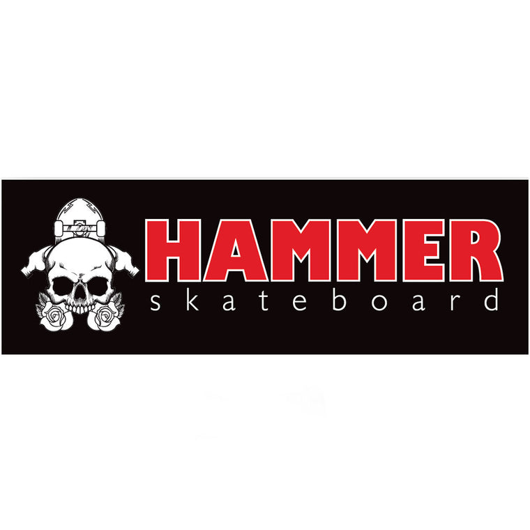 Hammer Sticker Black Red White