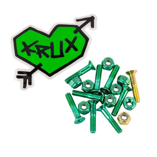 "Krux Bolts 1"" Krome Green"