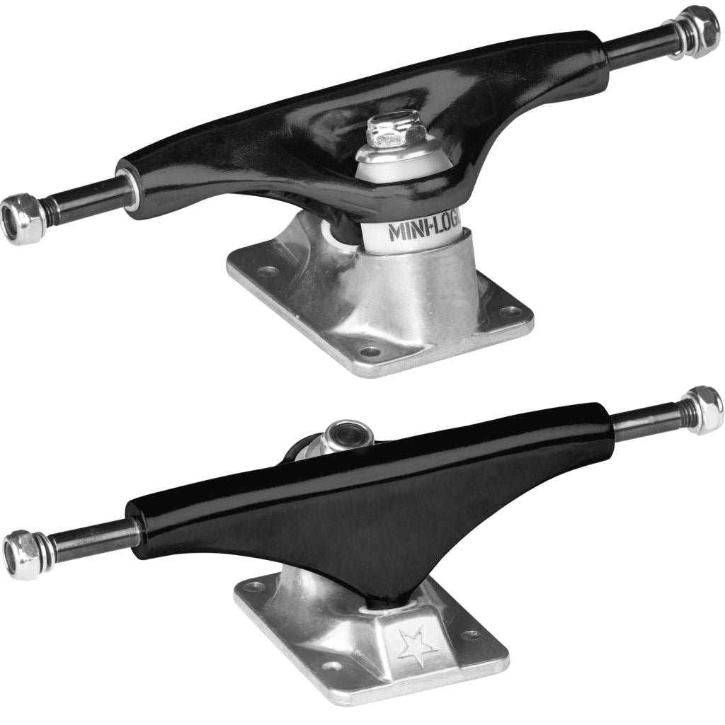 Mini Logo trucks silver black 7.63""
