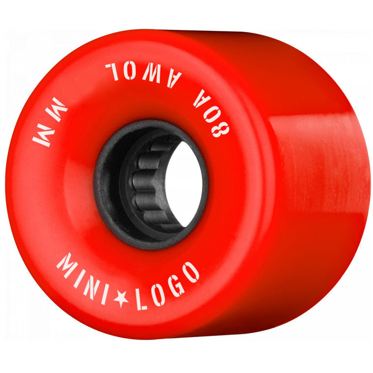 Mini Logo Wheels AWOL 55mm Red