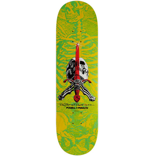 Powell Peralta Skull And Sword Yellow Green 8.5""