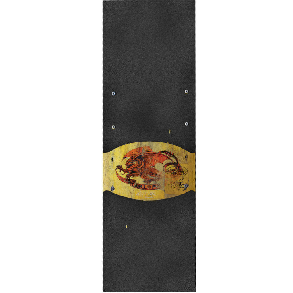 Powell Peralta Grip Tape Oval Dragon Yellow Wide