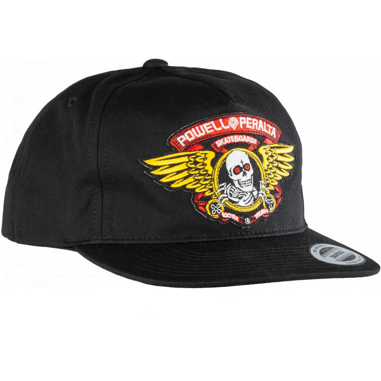 Powell Peralta Winged Ripper Hat Black Patch