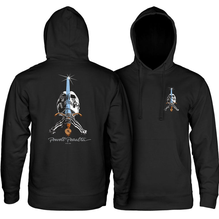 Powell Peralta Skull And Sword Hoodie Black
