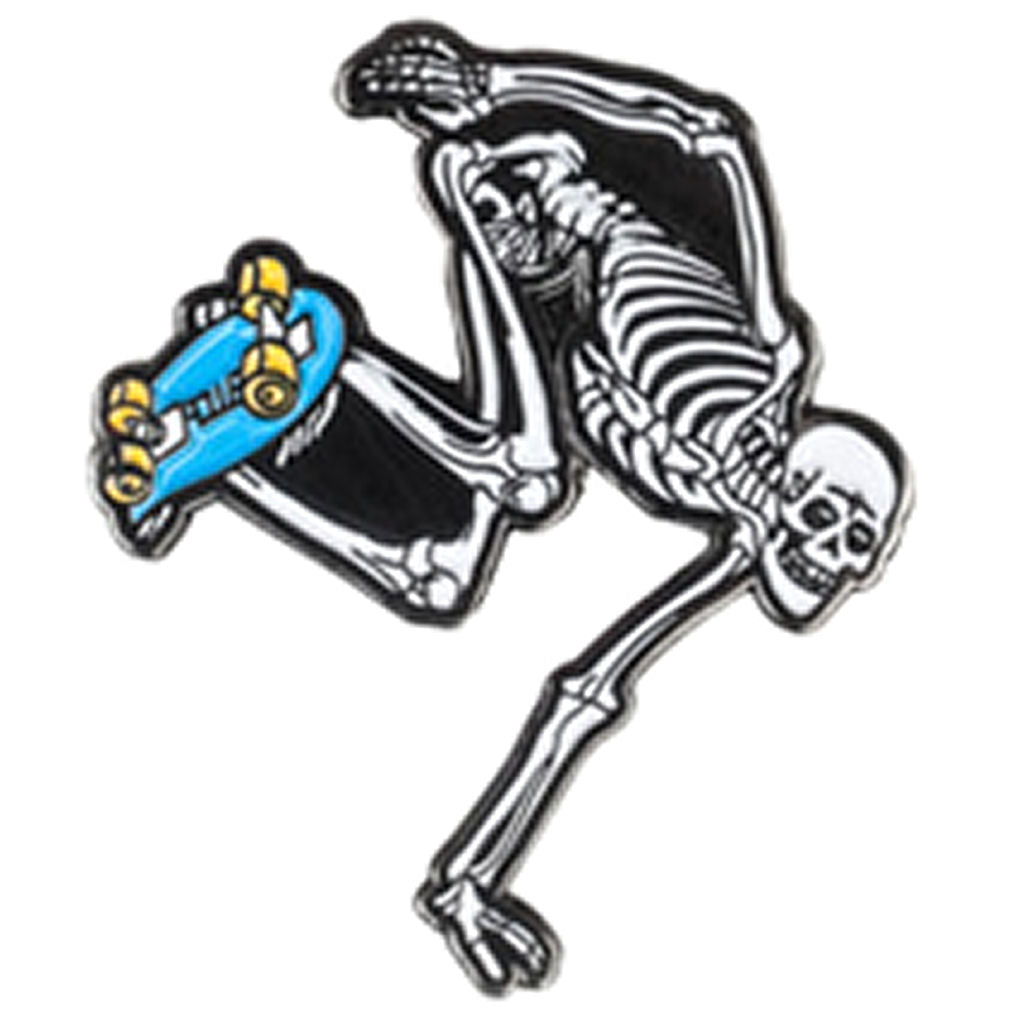Powell Peralta Enamel Pin Skateboard Skeleton