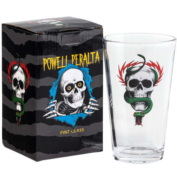 Powell Peralta Pint Glass McGill Skull And Snake
