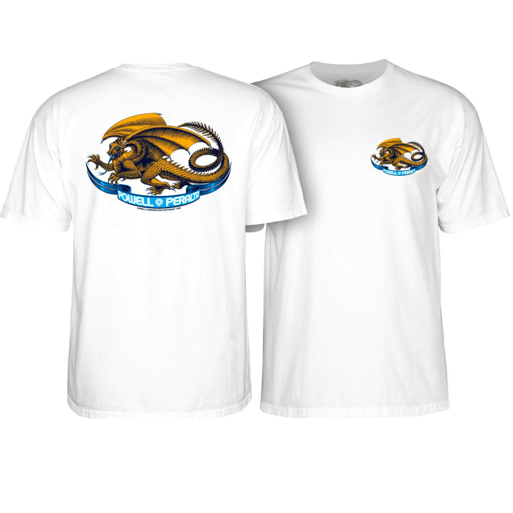 Powell Peralta Oval Dragon white tee